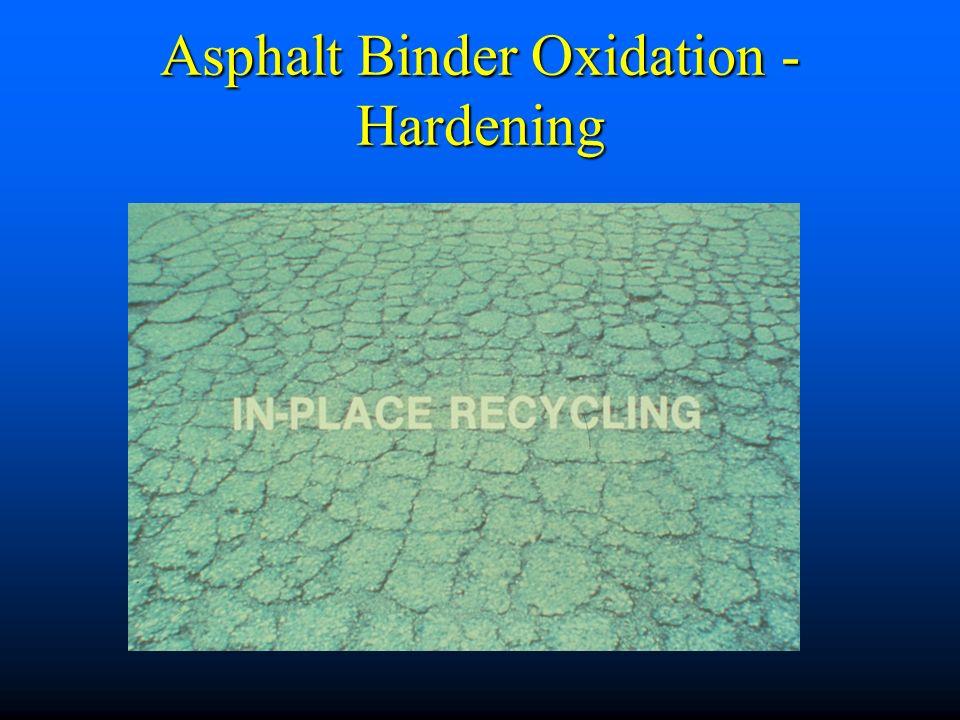 Asphalt Binder Oxidation - Hardening