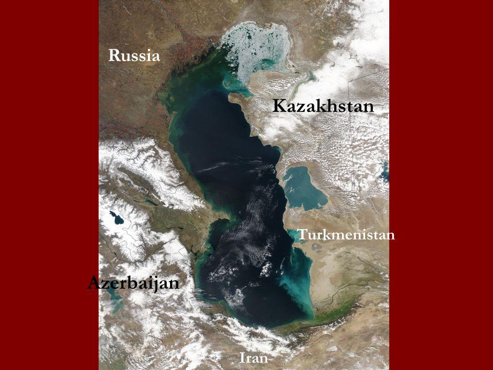 Russia Kazakhstan Turkmenistan Iran Azerbaijan
