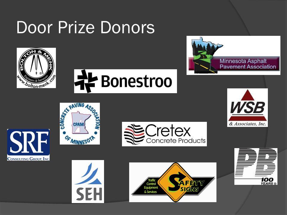 Door Prize Donors