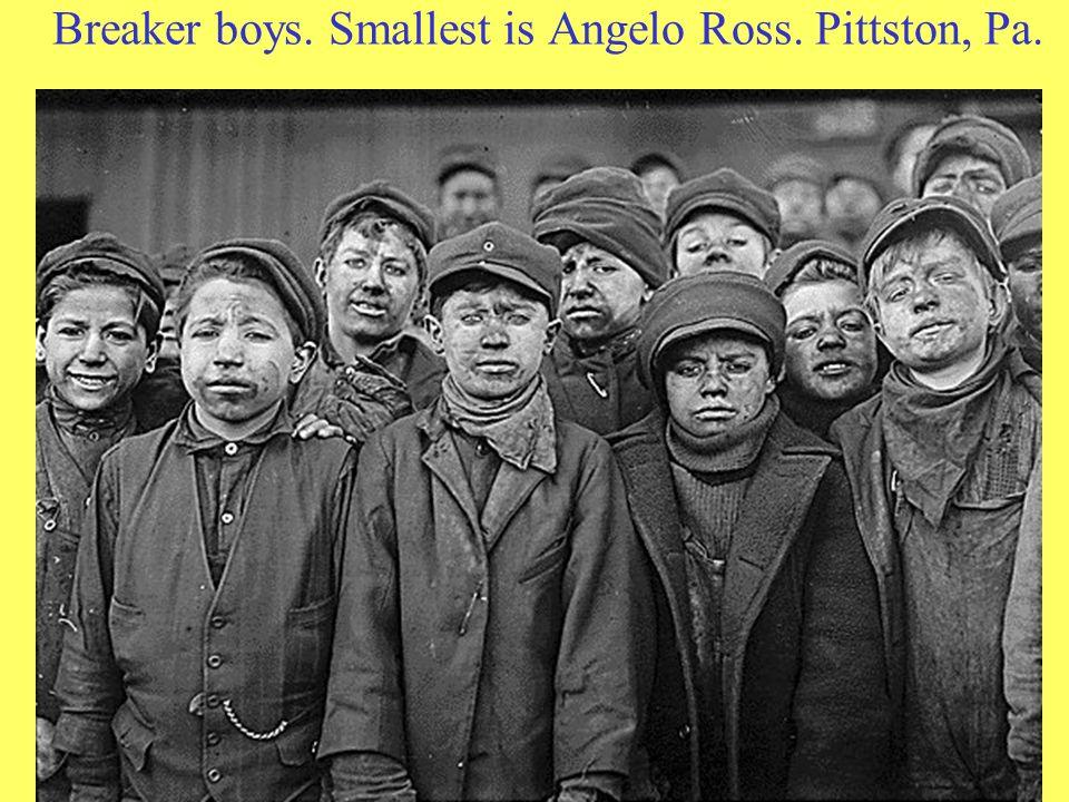 Breaker boys. Smallest is Angelo Ross. Pittston, Pa.