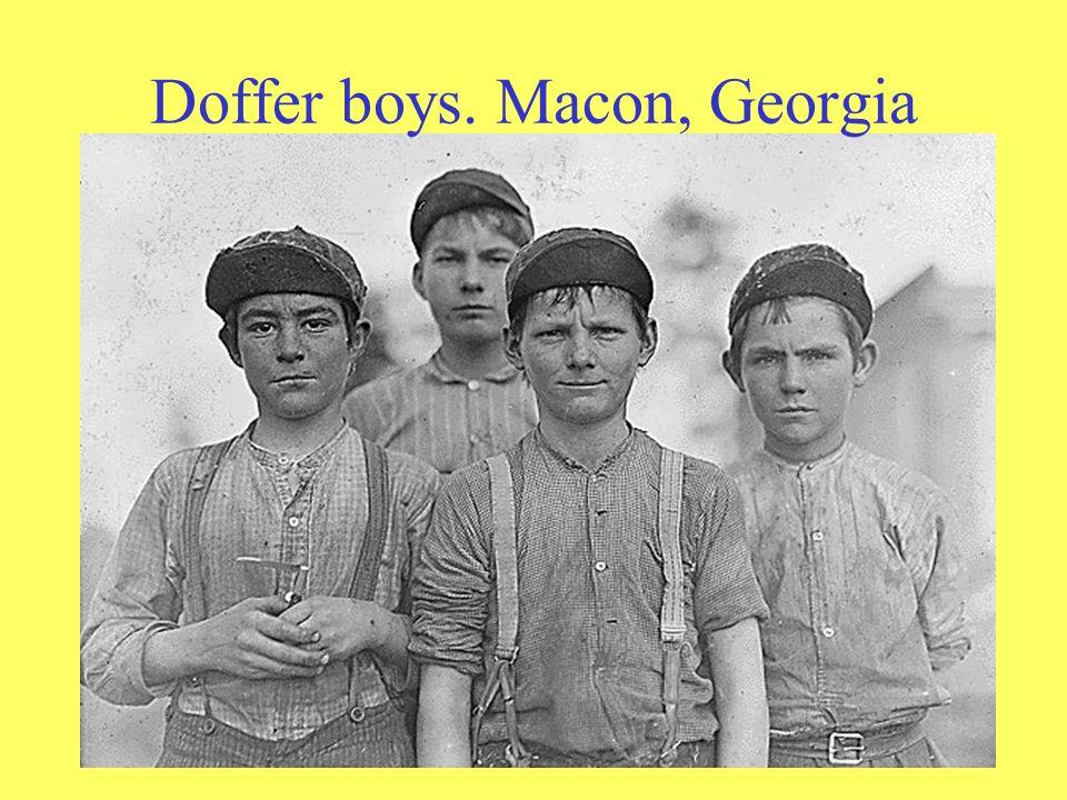 Doffer boys. Macon, Georgia
