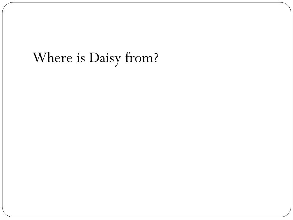 Where is Daisy from?