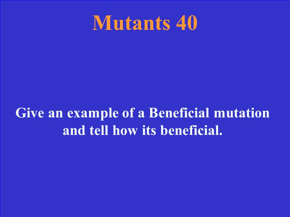 Mutants 30 Answer Insertion