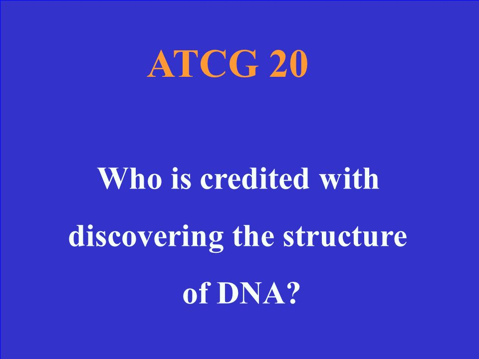 Deoxyribonucleic Acid ATCG 10 Answer