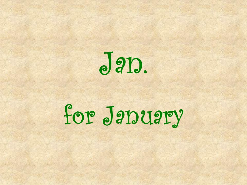 Jan. for January