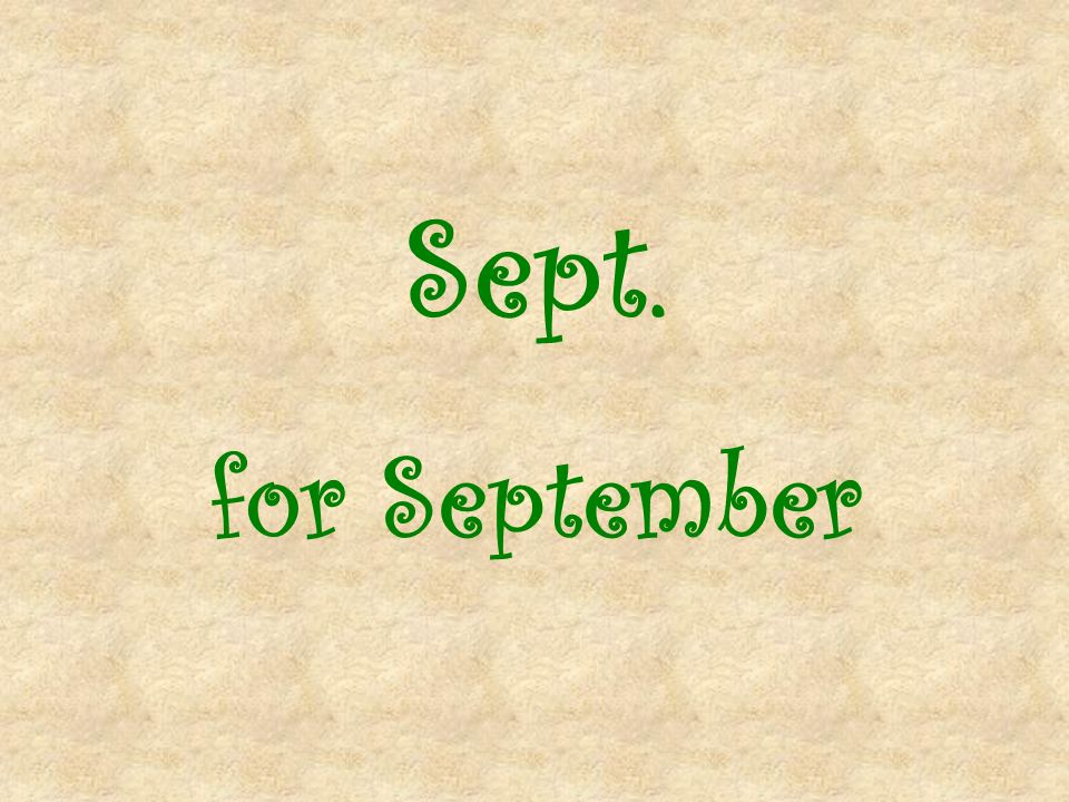 Sept. for September