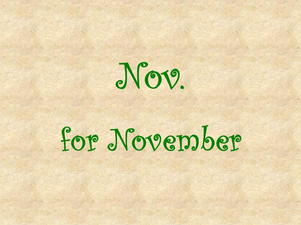 Nov. for November
