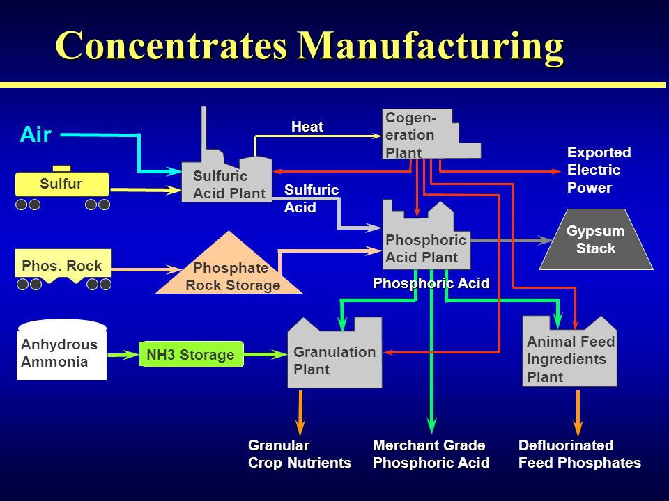 Concentrates Manufacturing Sulfur Phos.