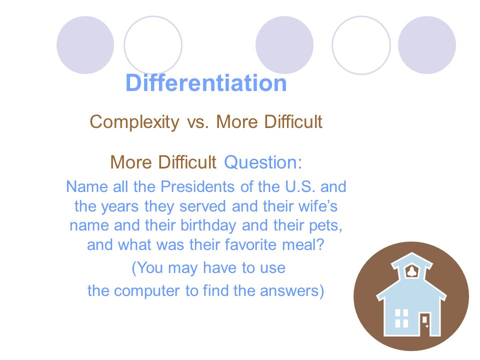 Differentiation Complexity vs.