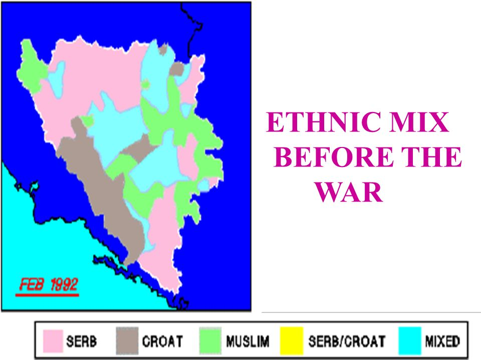 ETHNIC MIX BEFORE THE WAR