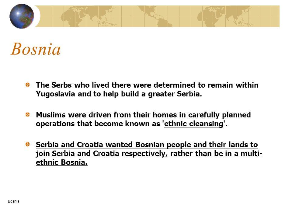 Slovenia (West) Slovene/Catholic 91% Croat/Catholic 3% Serb/E Ortho 2% Croatia (West) Croat/Catholic 78% Serb/E Ortho 12% Macedonia (East) 66% Macedonian/E Ortho 23% Albanian/Muslim 2% Serb/E Ortho 4% Turk/Muslim Serbia and Montenegro (incorporated Vojvodina and Kosovo) (East) Serb/ E Ortho 63% Montenegrin/ E Ortho 6% Albanian/Muslim 14% Hungarian/Catholic 4% Bosnia and Hercegovina (Central) Muslims (43.7%) Croats/Catholic (17.3%) Serbs/E Ortho (31.4 %) Ethnic and Religious Make-up
