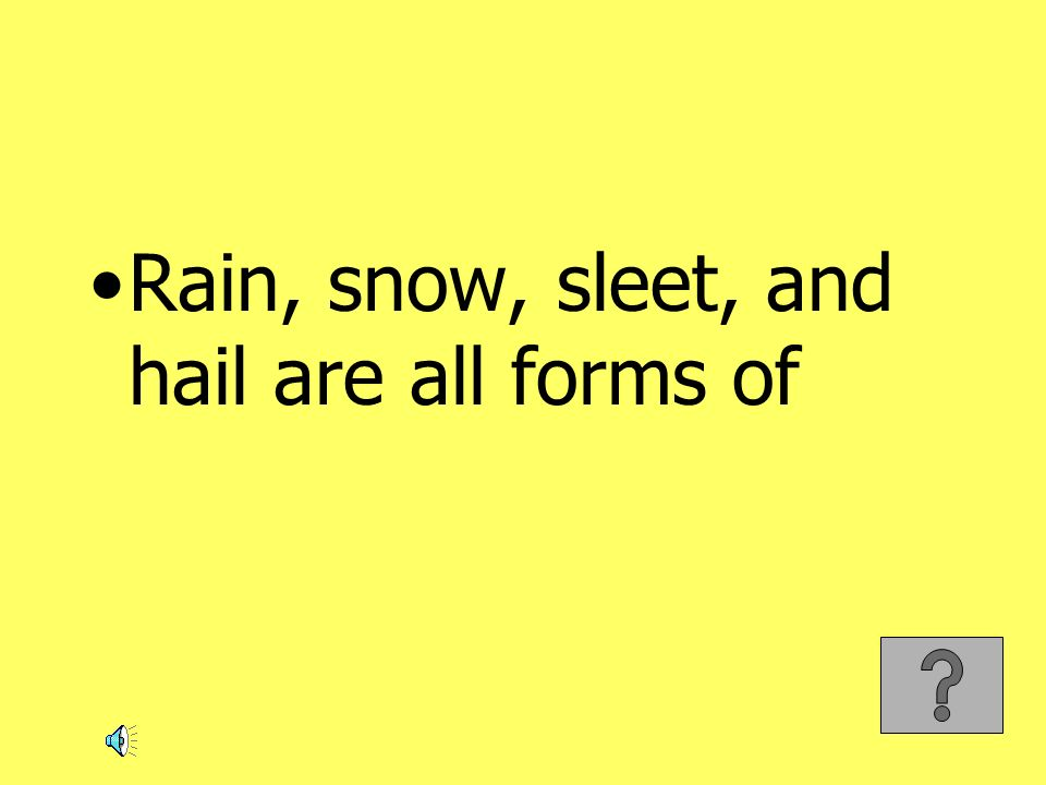 Rain, snow, sleet, and hail are all forms of