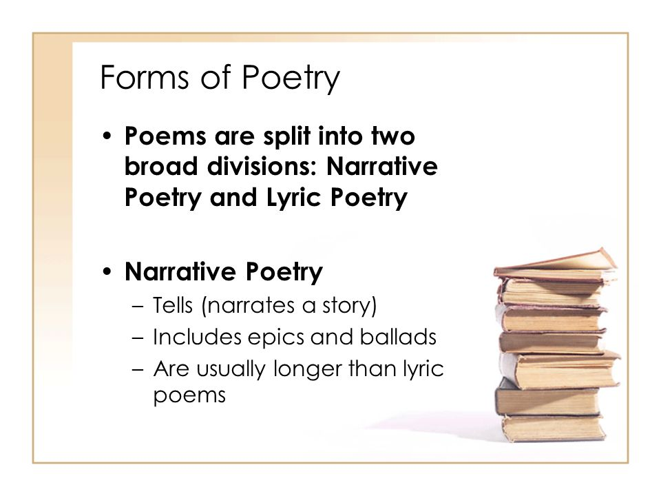 Forms of Poetry Lyric Poem : a short, highly musical poem that expresses the observations and feelings of a single speaker On the ancient Greek stage, a dramatic production often featured a chorus, which was a group of speakers, who commented on the action of the play.