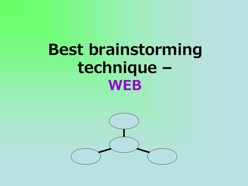 Best brainstorming technique – WEB