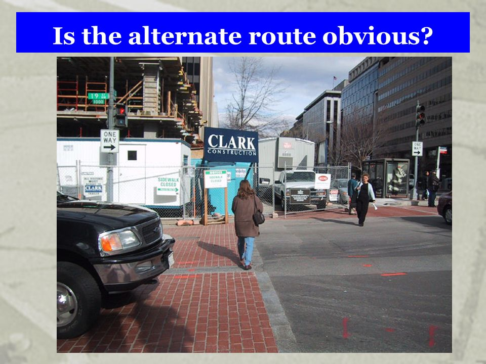 Is the alternate route obvious?