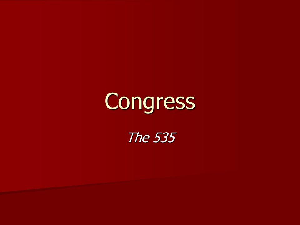 Congress The 535