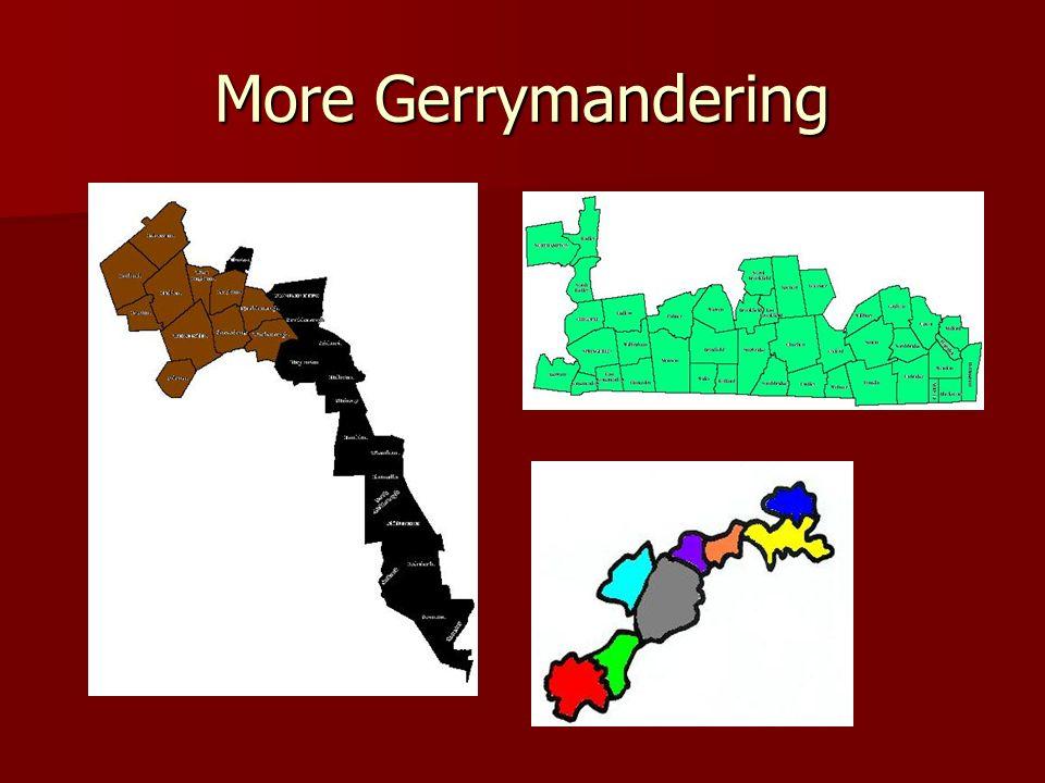 More Gerrymandering
