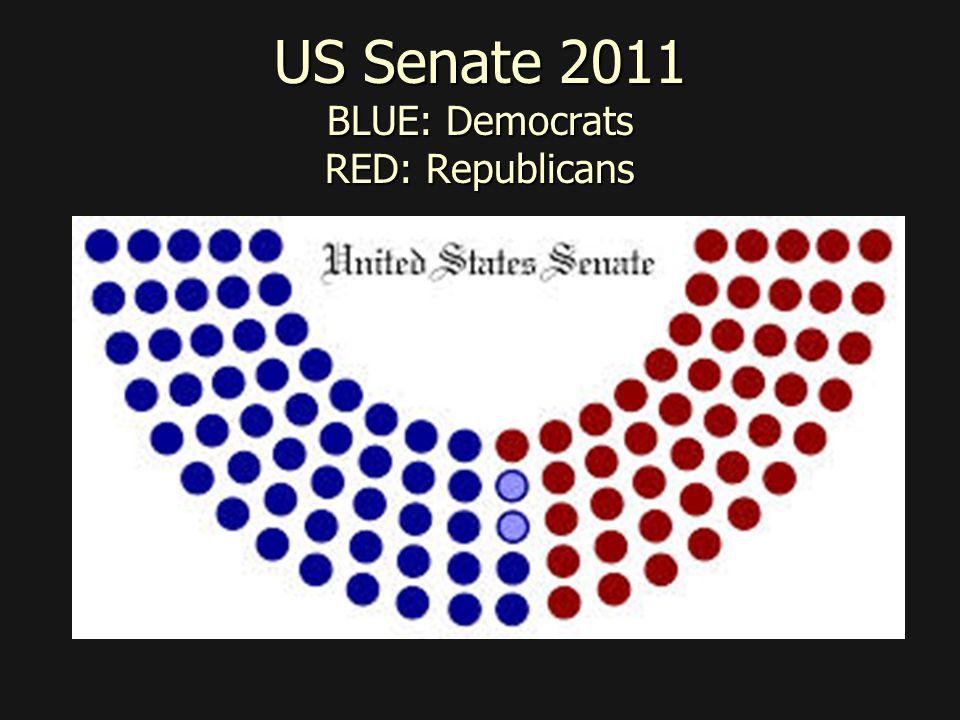 US Senate 2011 BLUE: Democrats RED: Republicans