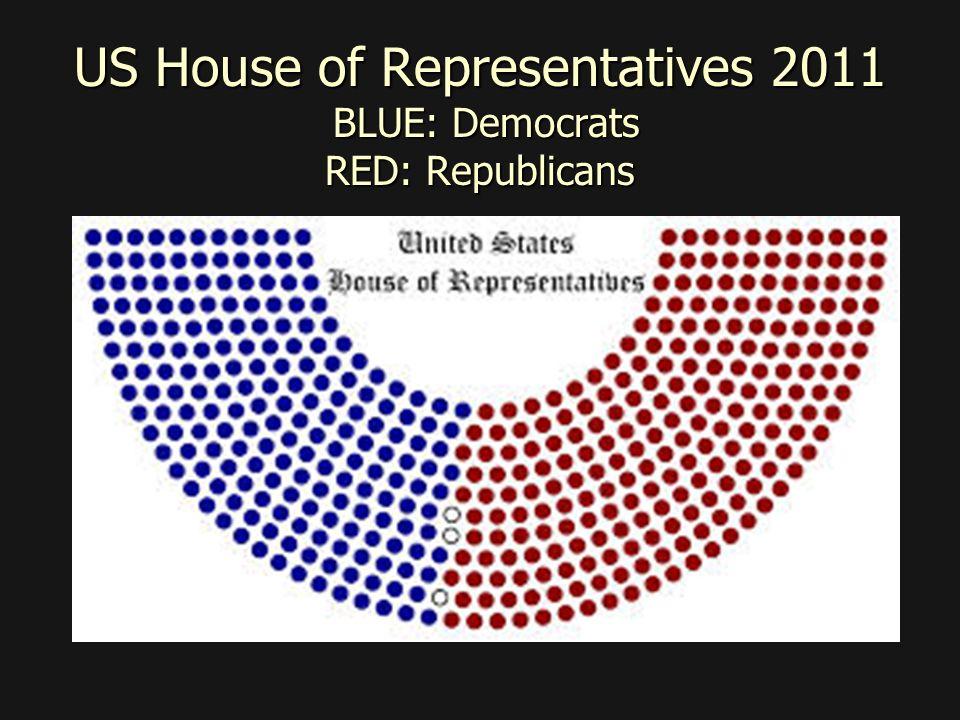 US House of Representatives 2011 BLUE: Democrats RED: Republicans