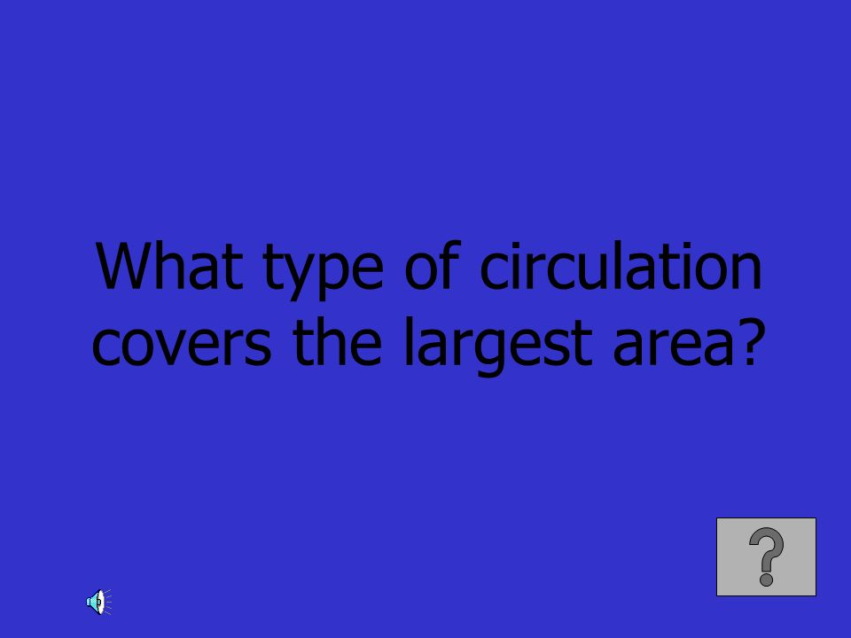 What type of circulation covers the largest area?