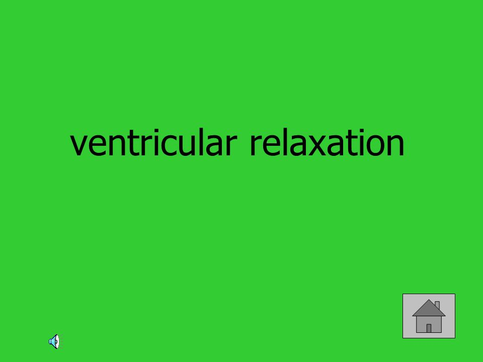 ventricular relaxation