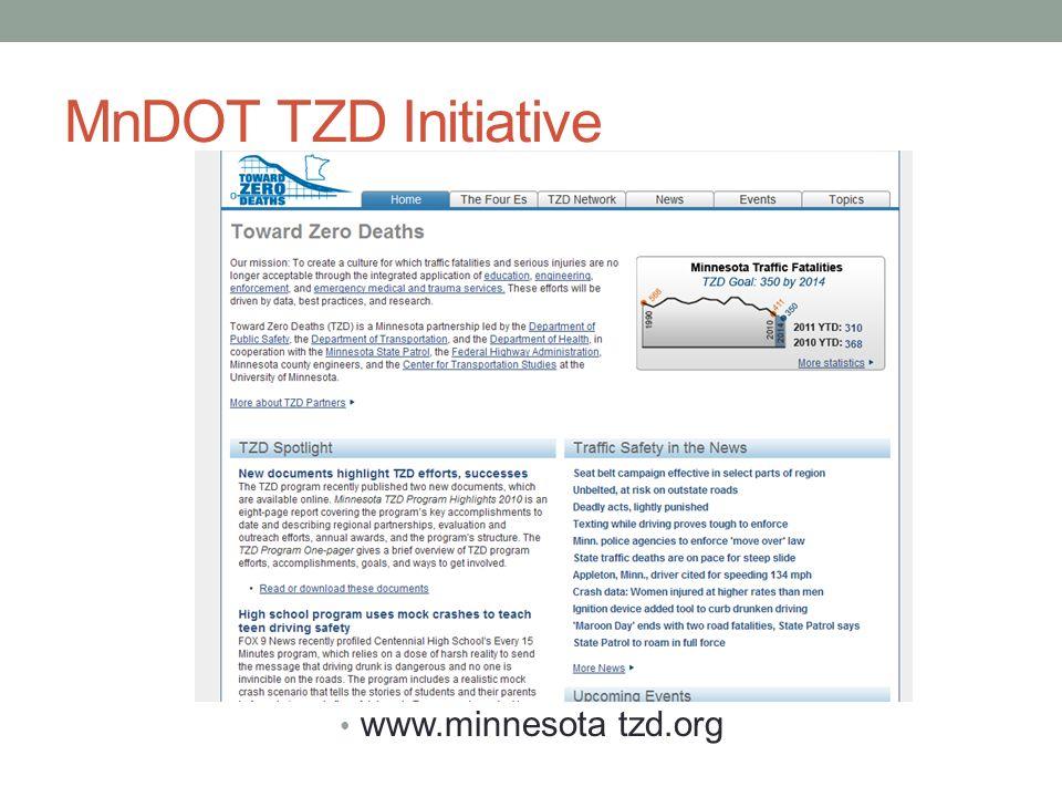 MnDOT TZD Initiative www.minnesota tzd.org