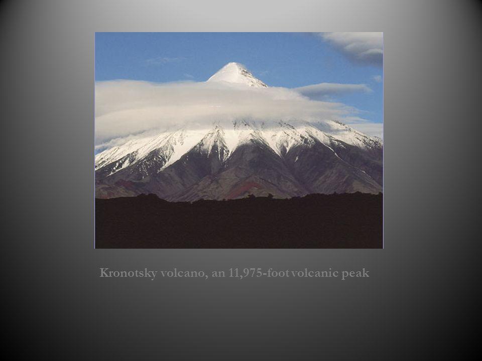 Kronotsky volcano, an 11,975-foot volcanic peak