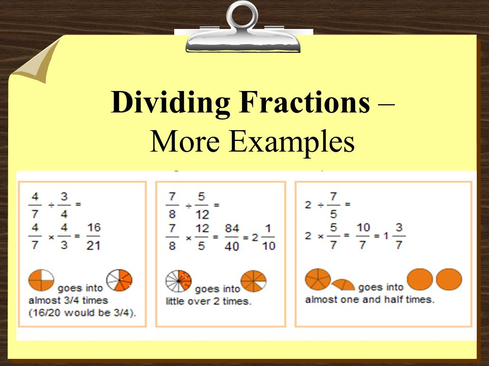 Dividing Fractions 2 8 = ÷ 9 1 3 So, 1 3 2