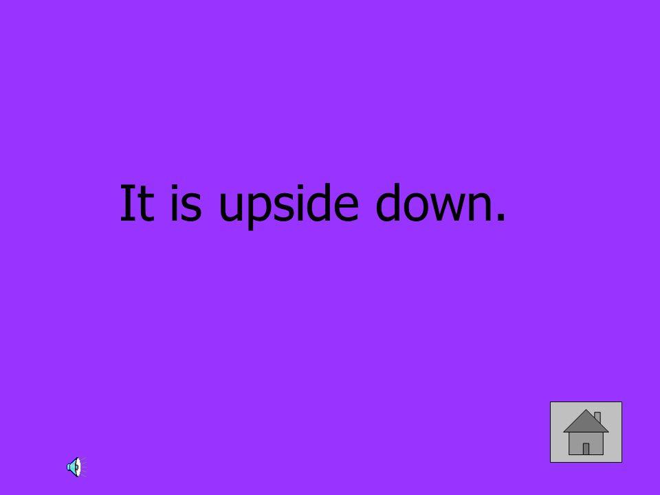 It is upside down.
