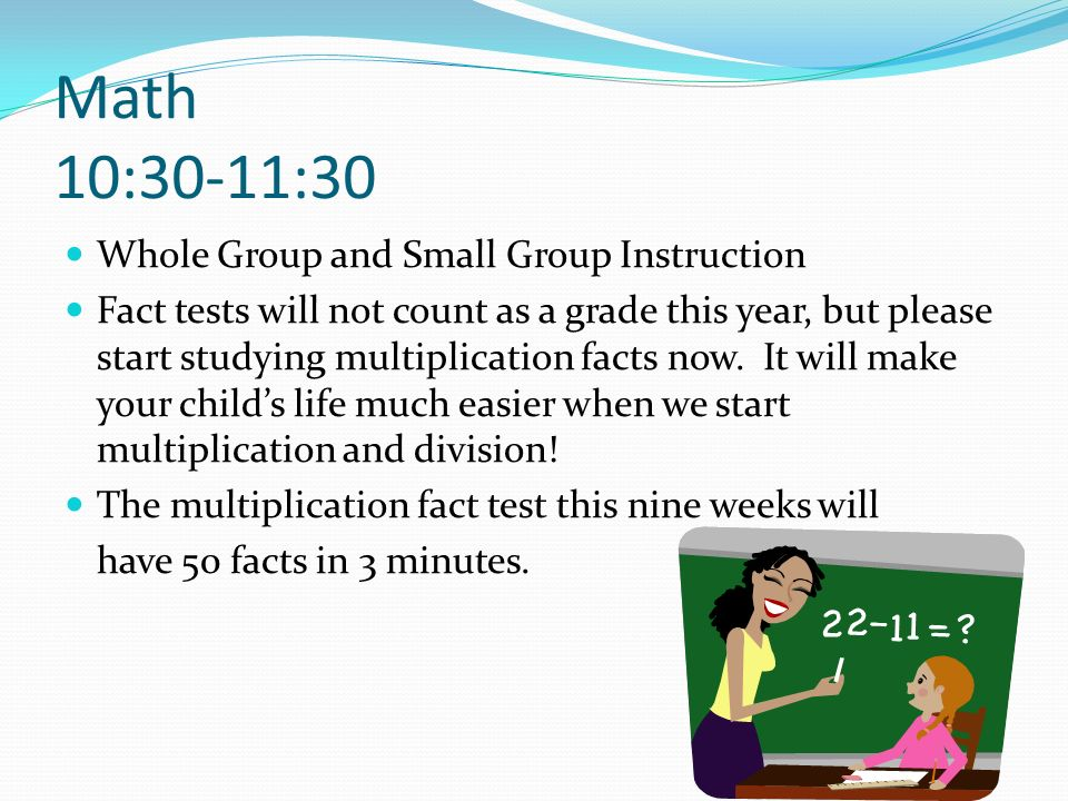 Math (Continued) 10:30-11:30 I have 3 pages on my blog for math.