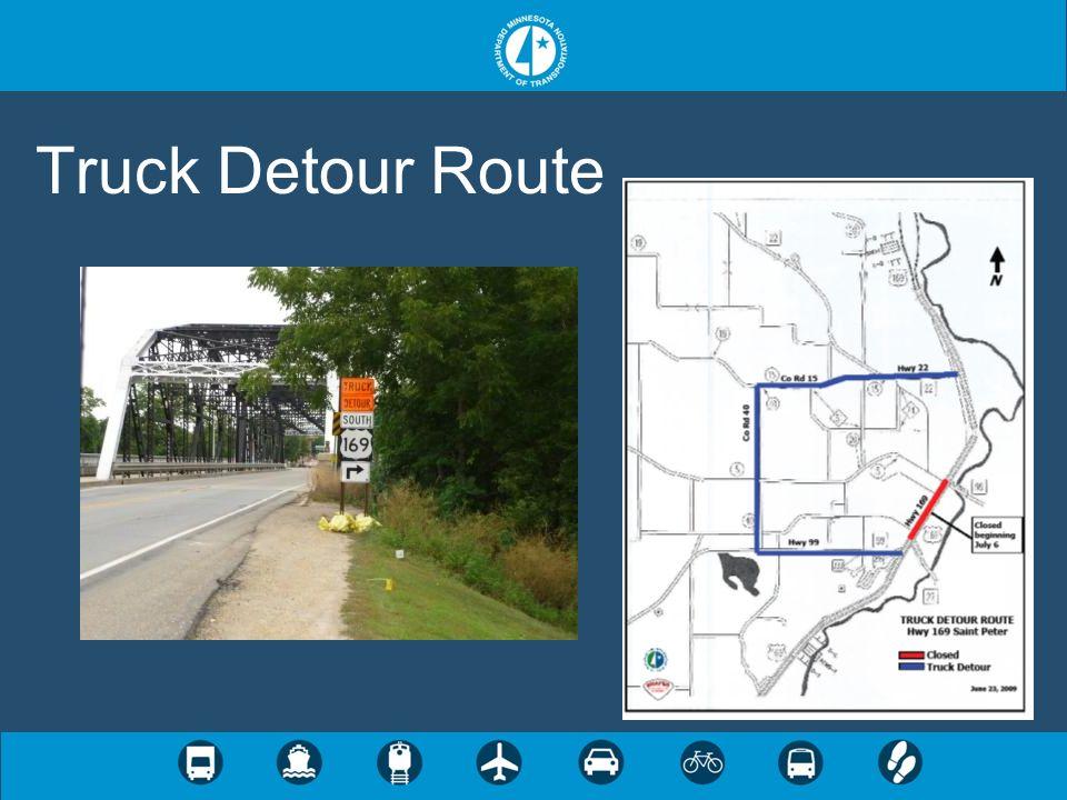 Truck Detour Route