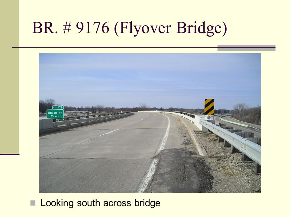 BR. # 9176 (Flyover Bridge) Looking south across bridge