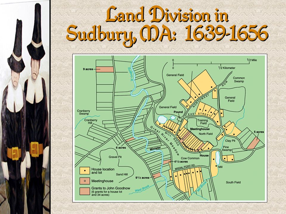 Land Division in Sudbury, MA: 1639-1656
