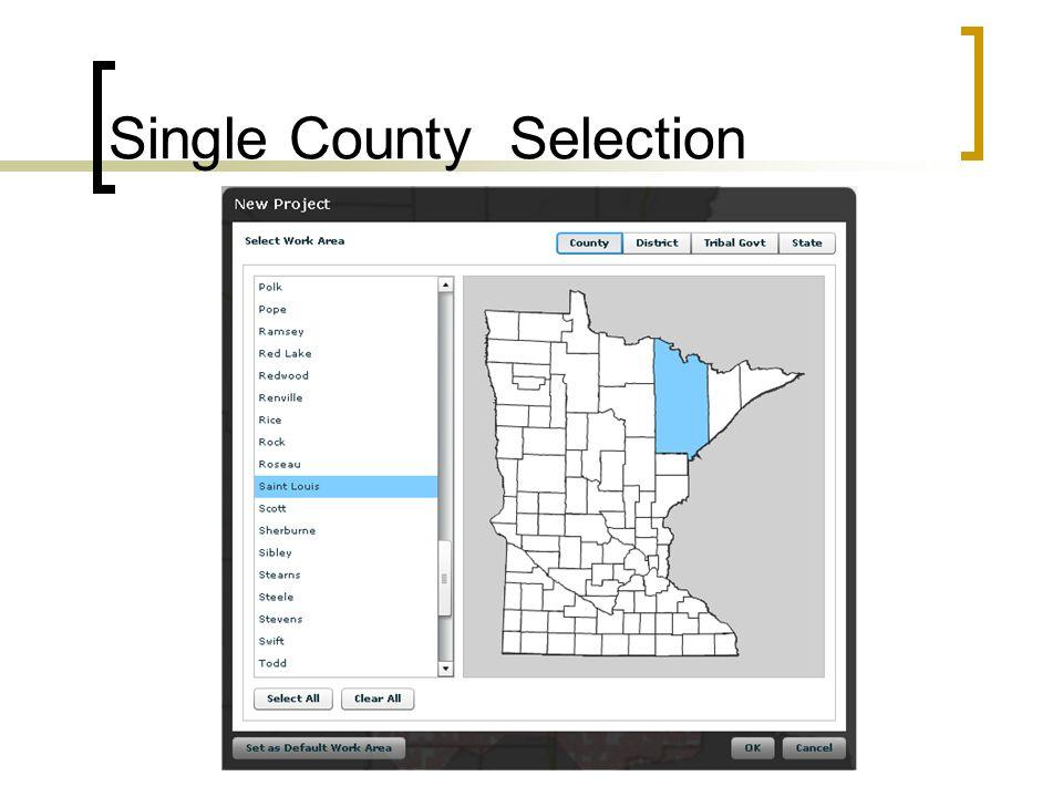 Single County Selection
