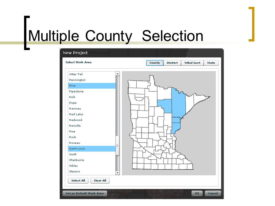 Multiple County Selection