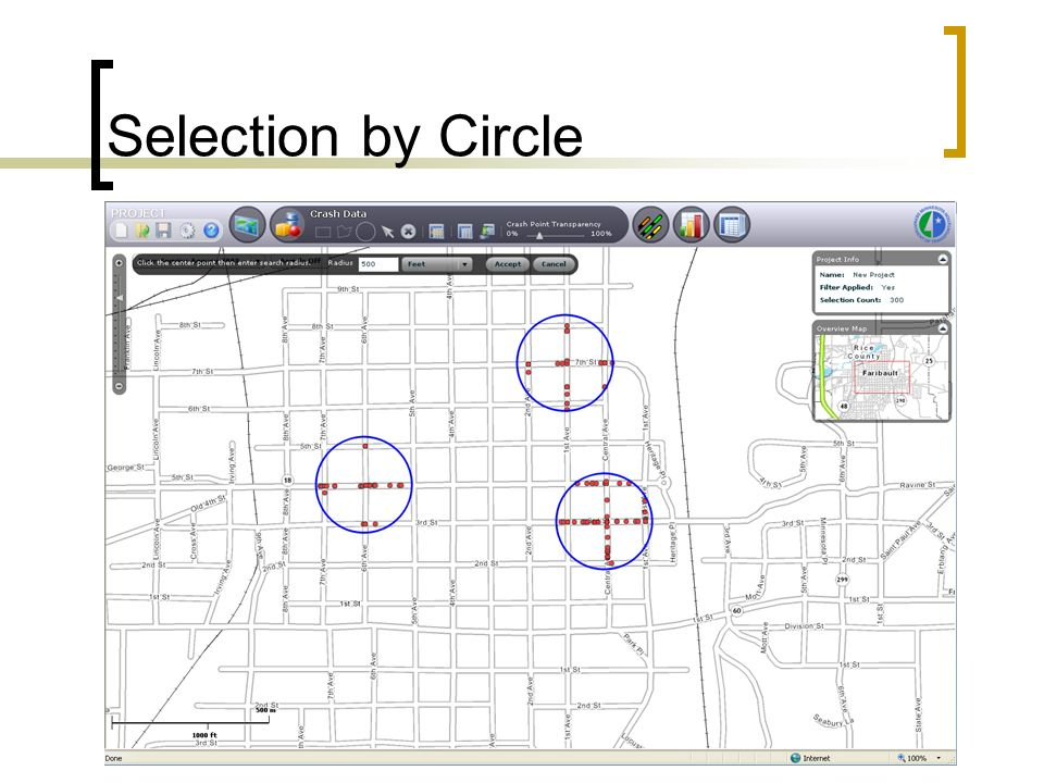Selection by Circle