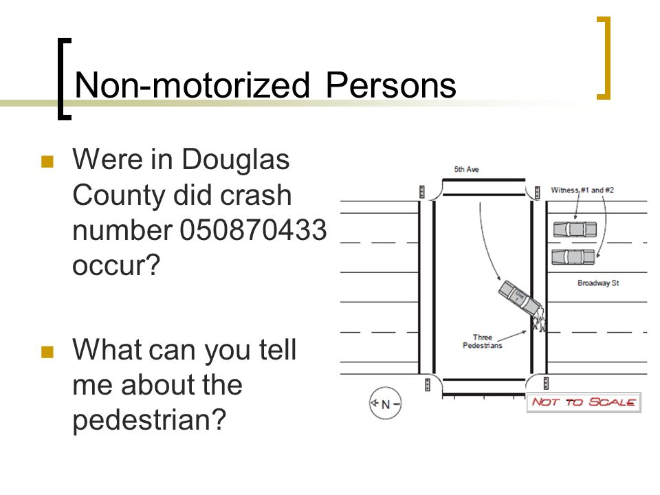 Non-motorized Persons Were in Douglas County did crash number 050870433 occur.