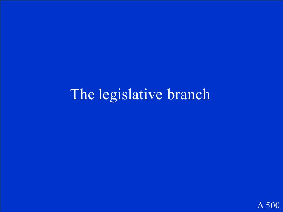 Which branch of government makes Alabamas laws? A 500