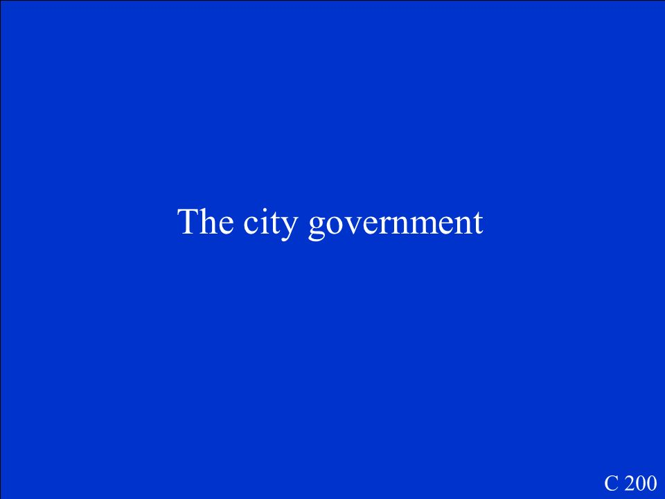 Who manages the transportation system in a city or town? C 200