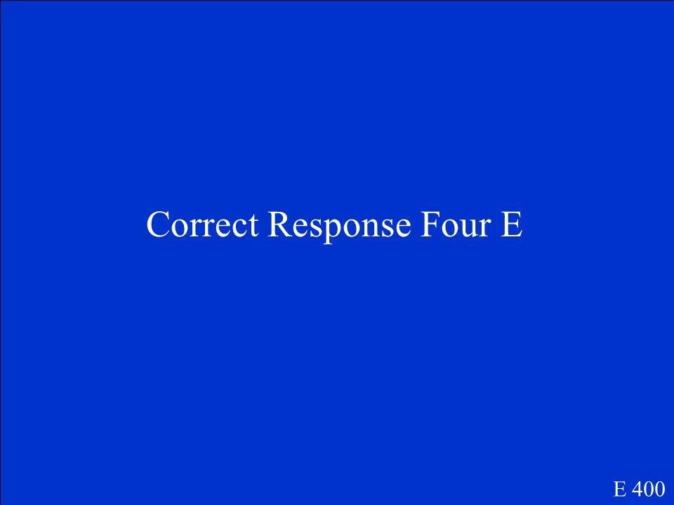 Question Number Four E E 400