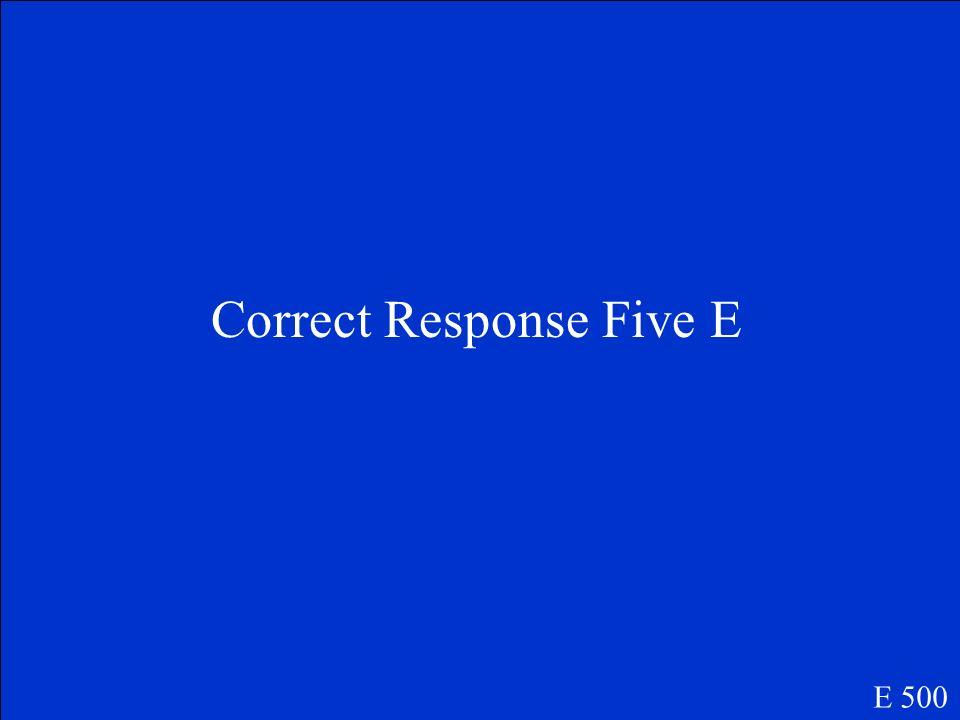 Question Number Five E E 500