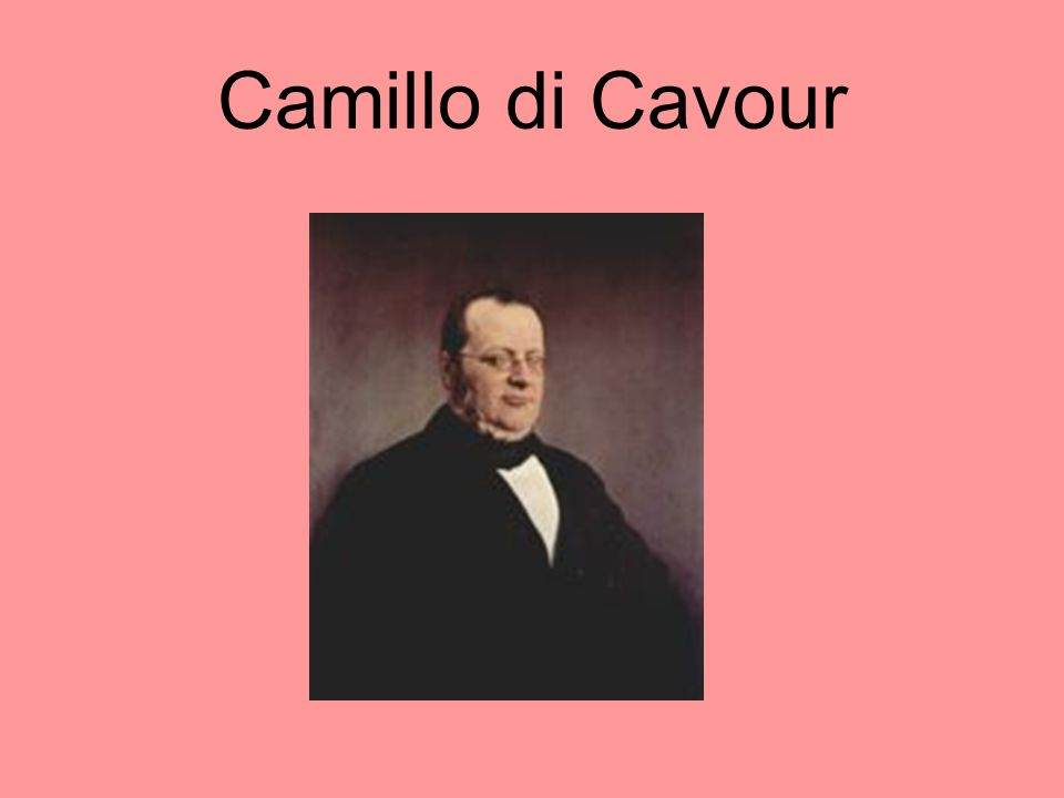 Italian Unification The king of Piedmont named Camillo di Cavour his prime minister. Cavour pursued economic expansion, which gave the government enou