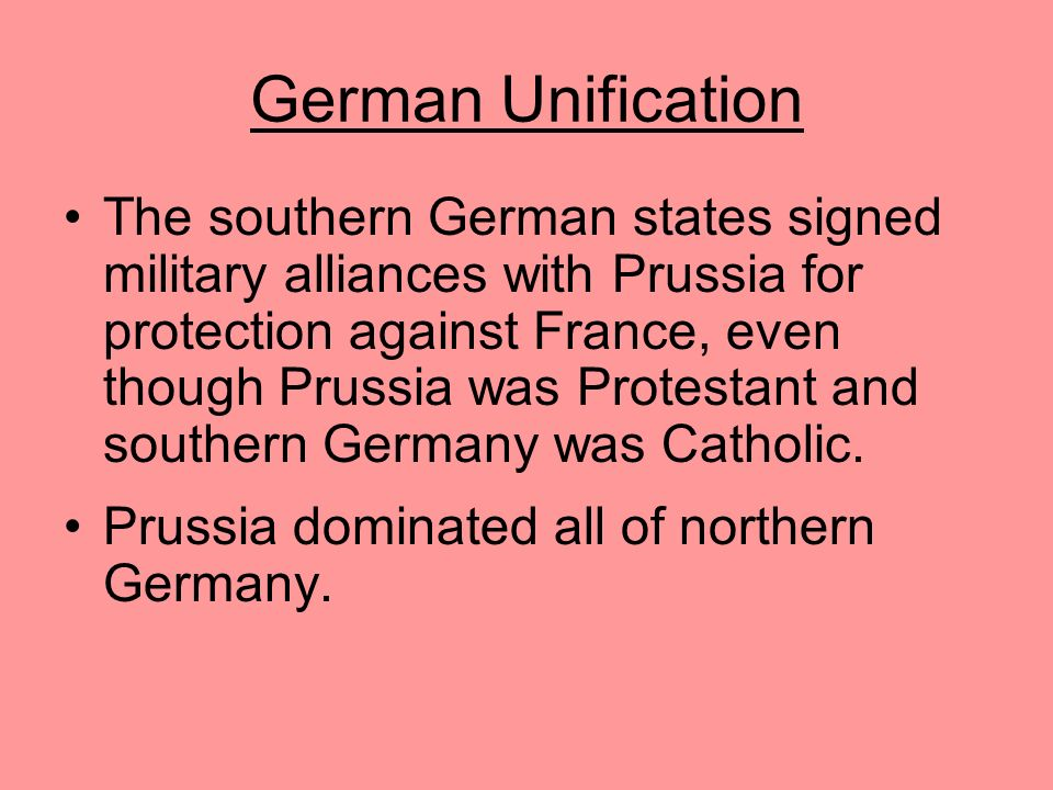 German Unification He then created friction with Austria, and the two countries went to war in 1866. The highly disciplined Prussian army defeated the