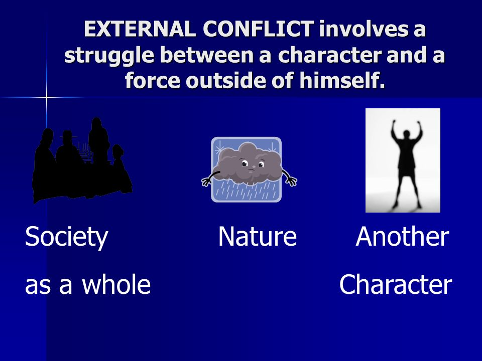 INTERNAL CONFLICT is a struggle between a character and something within himself/herself.