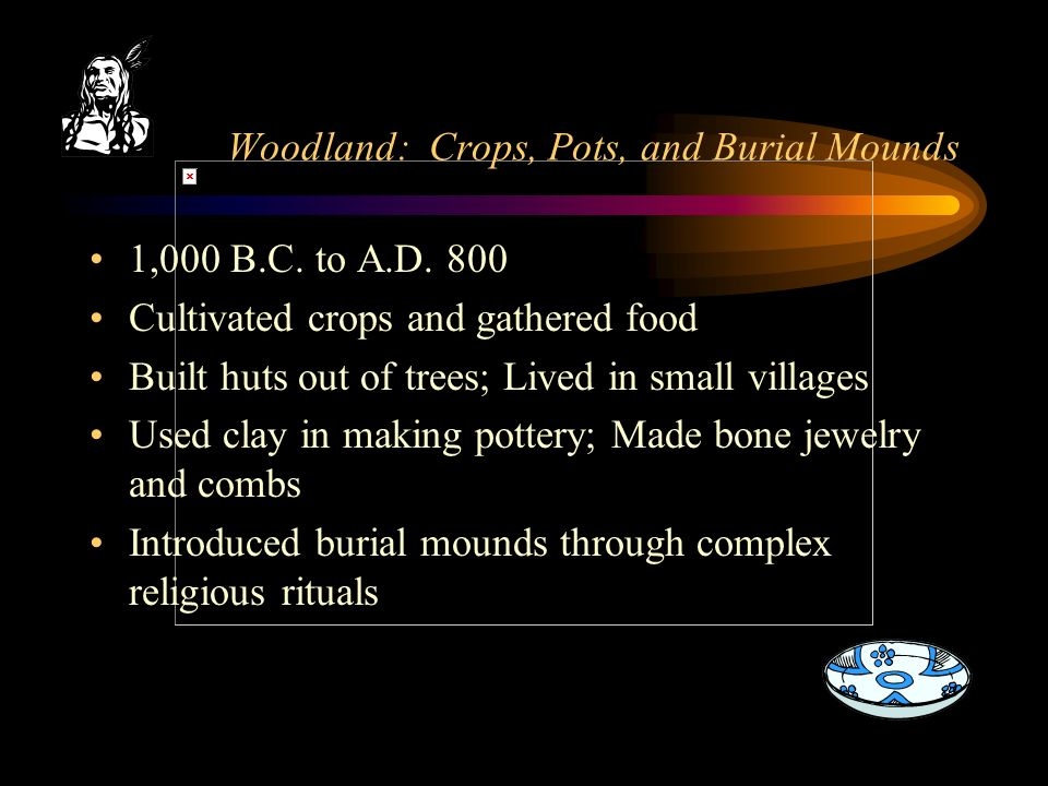 Woodland: Crops, Pots, and Burial Mounds 1,000 B.C.