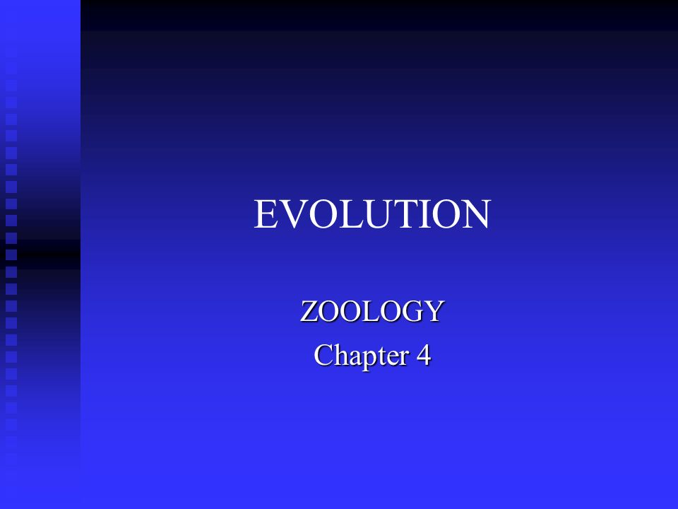 EVOLUTION ZOOLOGY Chapter 4