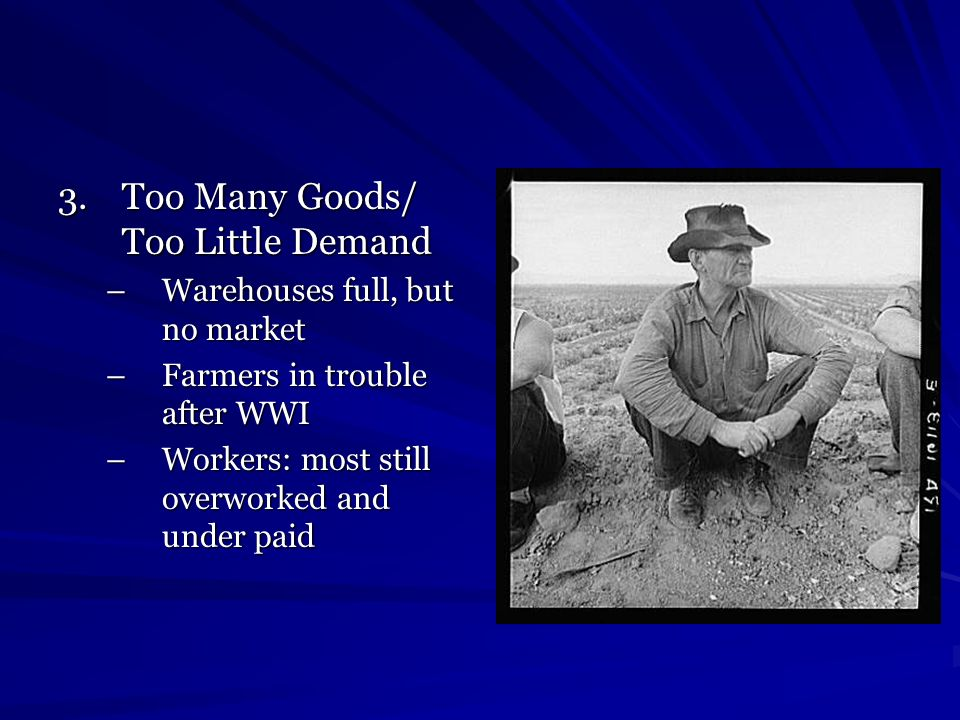 Workers are affected As income and profits fell, factories began to close Workers lost jobs-most had no savings and now no income, more factories closed, more Americans out of work…began a downward cycle