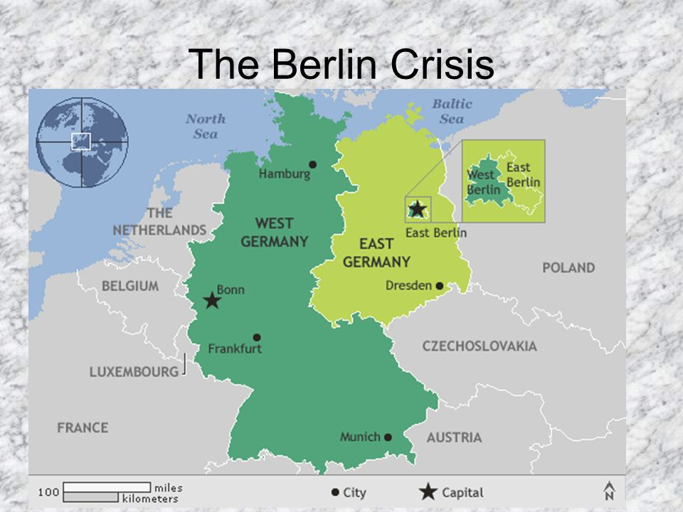 1948 – U.S., Britain, France merged their zones in Germany, and Berlin to create West Germany in response to the Soviets attempt to harm Germanys economy.