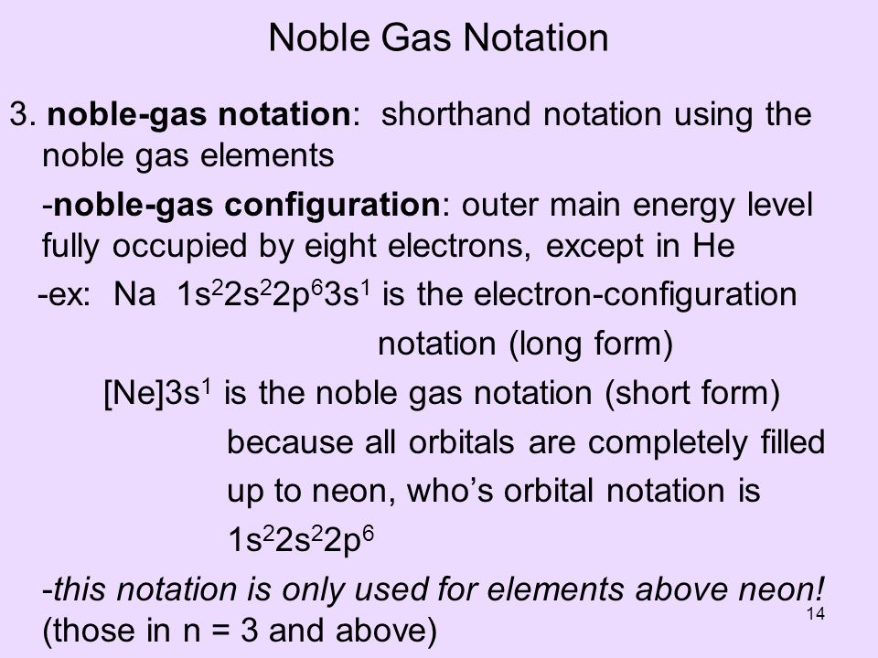Noble Gas Notation 3.