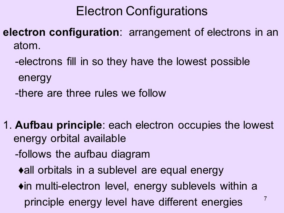 Electron Configurations electron configuration: arrangement of electrons in an atom.